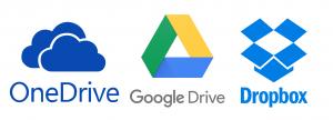 Google Drive OneDrive Dropbox